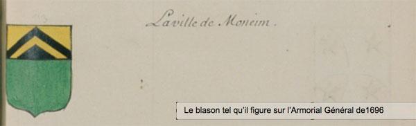 Blason Armoirial General 1696 Monein